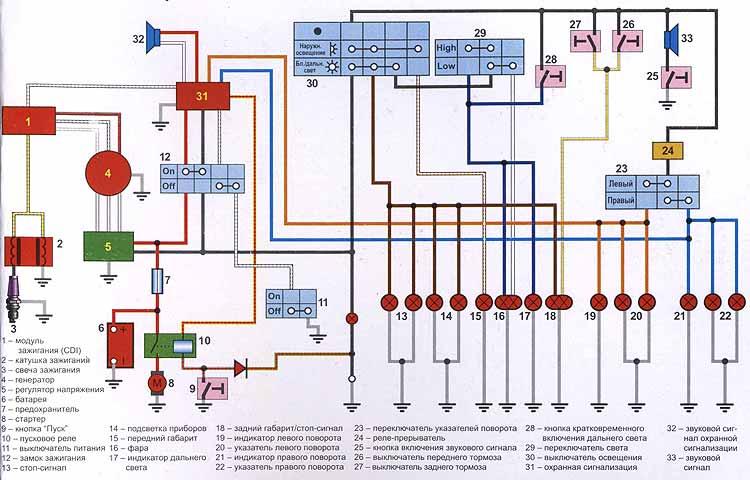 электрическая схема китайского
