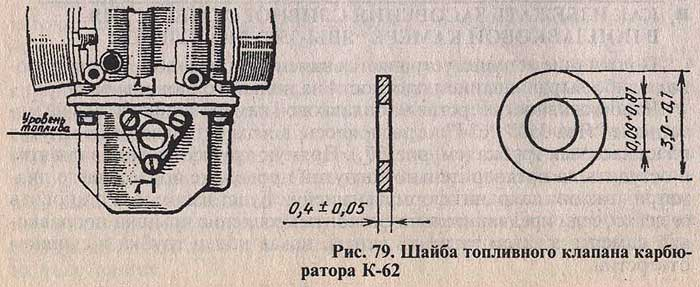 Мотоцикл Ява. Шайба топливного клапана карбюратора К-62.