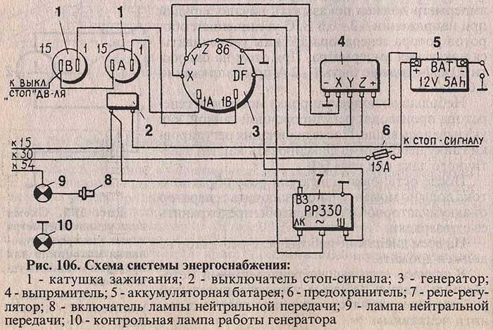 Схема системы энергоснабжения
