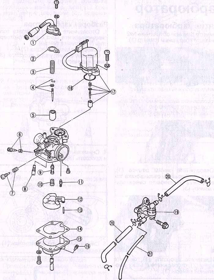 Скутер Yamaha Jog ZR из трубы